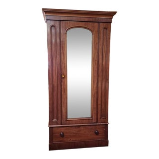 Marvelous Mid 19th Century Mahogany Armoire C.1860 For Sale
