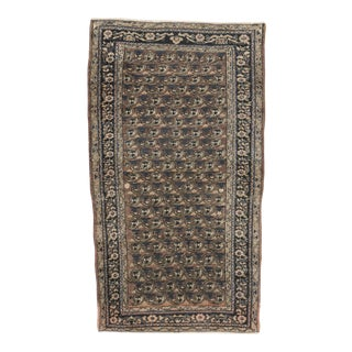 Antique Persian Boteh Rug- 2′5″ × 4′3″ For Sale