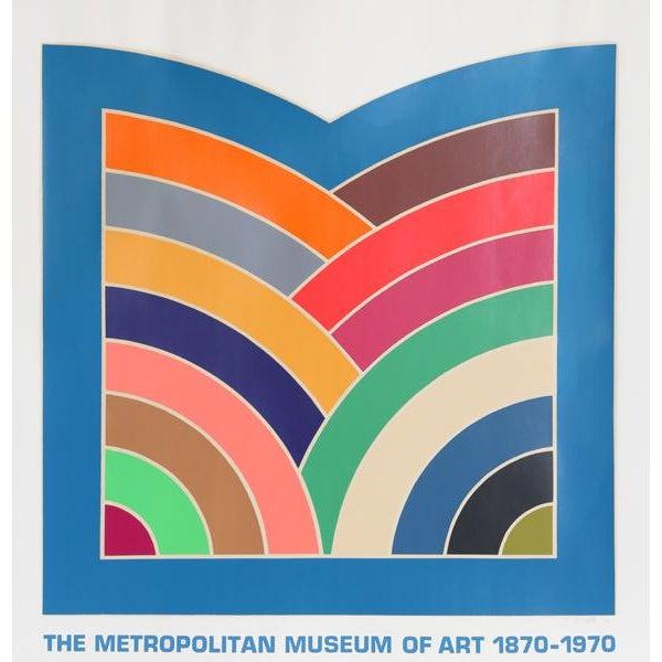 "1970 Frank Stella ""The Metropolitan Museum of Art 1870 - 1970"" Poster - Image 2 of 3"