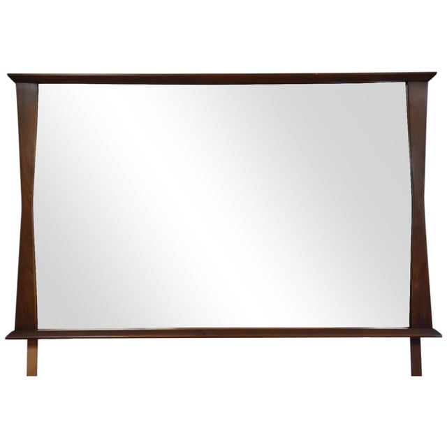 Kent Coffey Mid-Century Modern Walnut Mirror - Image 1 of 3