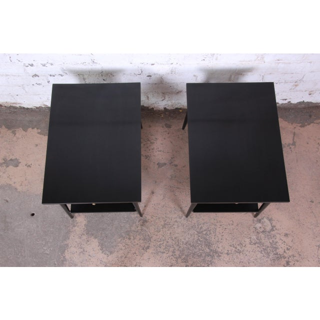 Paul McCobb Planner Group Ebonized Nightstands or End Tables, Pair For Sale In South Bend - Image 6 of 13