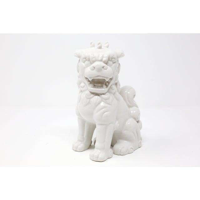Ceramic Vintage Blanc De Chine Foo Dog Figurine For Sale - Image 7 of 12