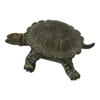 Small Brass Turtle Box With Removable Shell For Sale