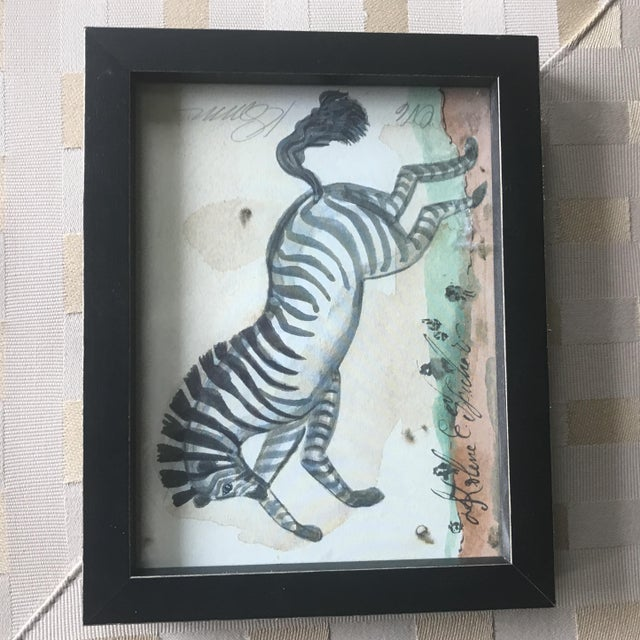 Framed Animal Watercolor Prints - Set of 4 - Image 4 of 9