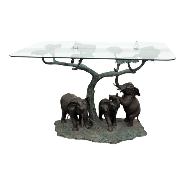 Late 20th Century Sculptural Glass Top Center Table For Sale