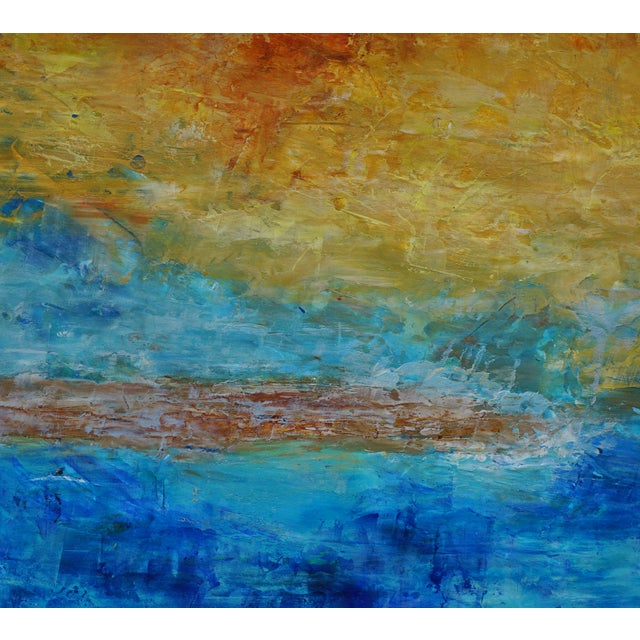 """Contemporary Laurie MacMillan Abstract """"Sand Bar"""" Abstract Seascape For Sale - Image 3 of 4"""