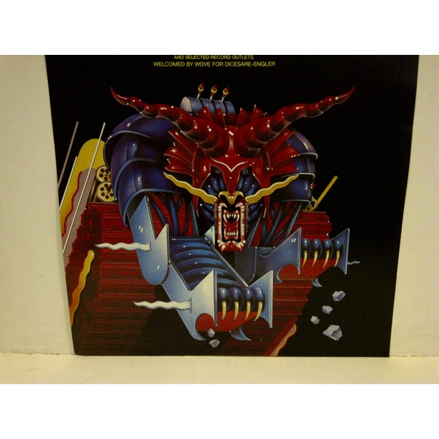 Judas Priest Concert Poster, Pittsburgh 1984 For Sale - Image 4 of 5