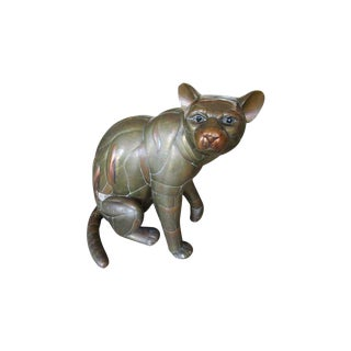 Mixed Metal Panther- Cat by Sergio Bustamante For Sale