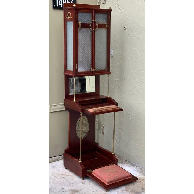 About The Prie-Dieu is a type of prayer desk primarily intended for private devotional use, but may also be found in...