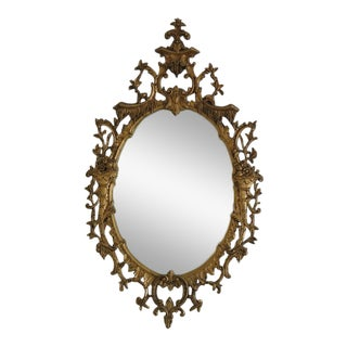 Friedman Brothers Vintage Chinese Chippendale Gold Gilt Mirror For Sale