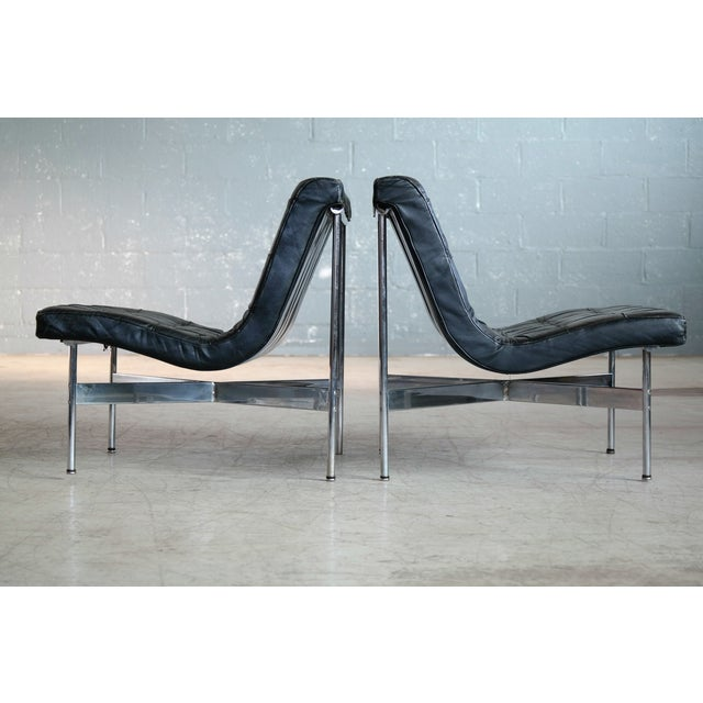 Pair of Original 1950s New York Lounge Chairs by Katavolos, Littell and Kelley For Sale In New York - Image 6 of 8