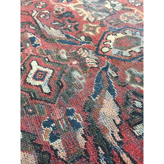 1930s Vintage Distressed Persian Meshkabad Rug - 10′4″ × 13′6″ For Sale - Image 10 of 13