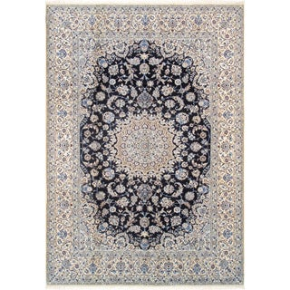 """Pasargad Home Nain Silk & Wool Area Rug - 8' 1"""" X 11' 8"""" For Sale"""