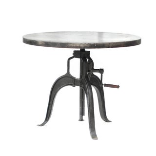 Industrial Iron Crank Table For Sale