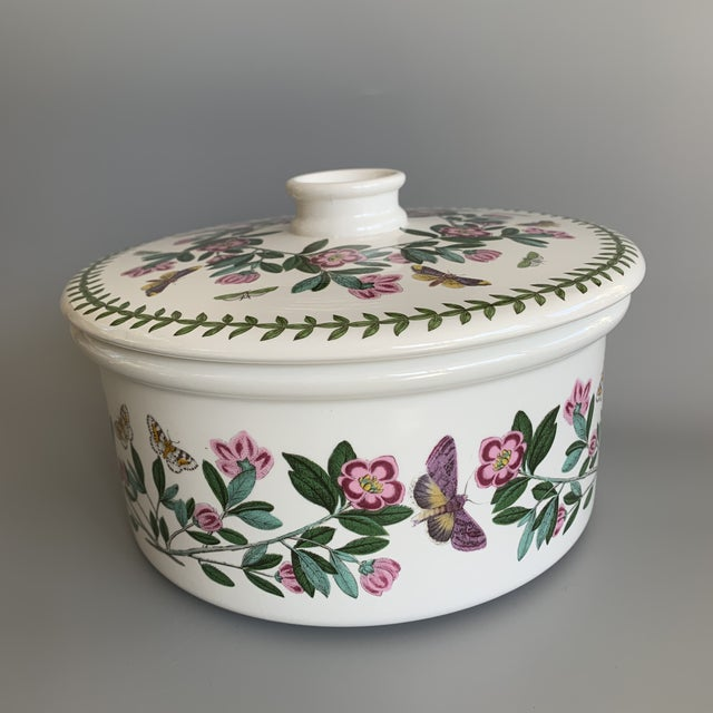 Boho Chic English Portmeirion Botanic Garden Rhododendron Covered Casserole Tureen For Sale - Image 3 of 12