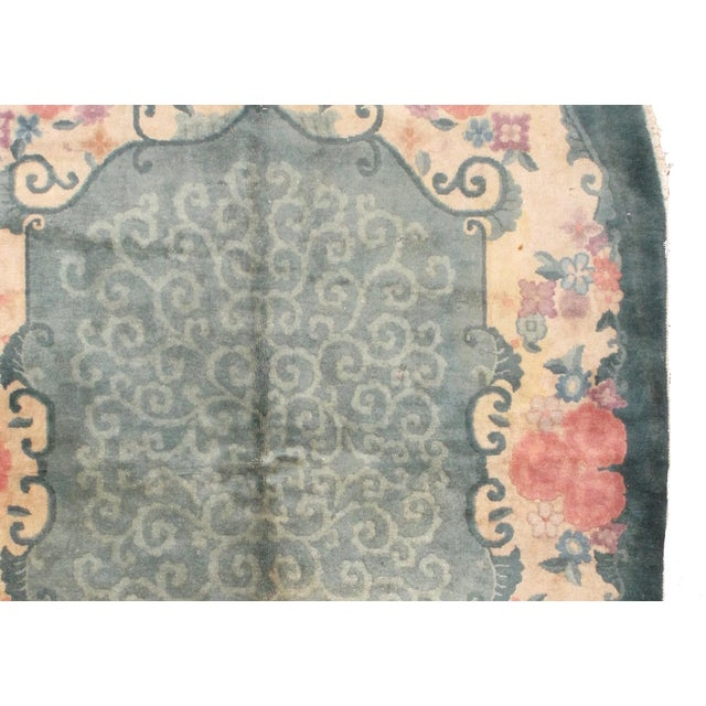 1920s Hand Made Antique Art Deco Chinese Rug - 5′ × 7′10″ - Image 4 of 7