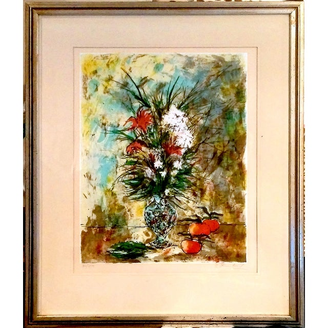 Still Life Lithograph by Bertoldo Taubert For Sale