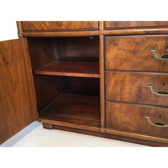 Vintage Drexel Accolade 10-Drawer Campaign Dresser