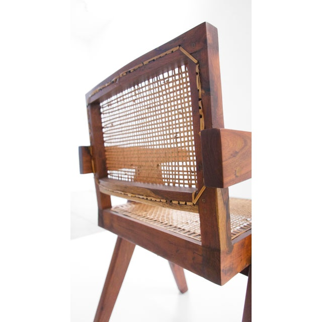Pierre Jeanneret Teak Conference Chair From Chandigarh, India, C. 1952 - 1956 For Sale - Image 9 of 10