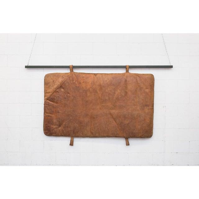 Vintage Leather Gymnastics Mat - Image 2 of 8