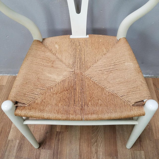 Paint Mid-Century Danish Hans Wegner Wishbone Chairs - A Pair For Sale - Image 7 of 13