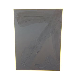 Abstract Highly Textured Black on Black Painting by Ron Goins For Sale