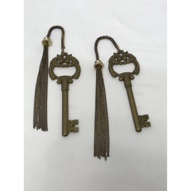 Ornate Brass Keys - a Pair For Sale - Image 4 of 8