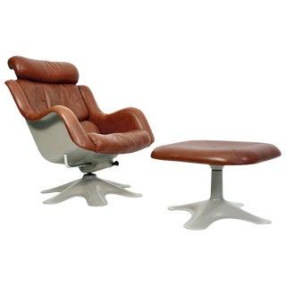 "Yrjo Kukkapuro ""Kaeuselli"" Lounge Chair and Ottoman"