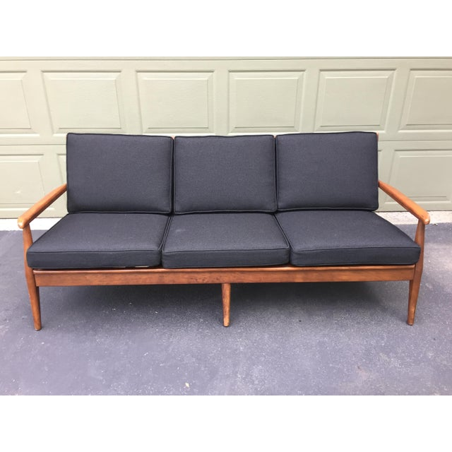 Danish Modern Danish Modern Style Open Arm Sofa For Sale - Image 3 of 11