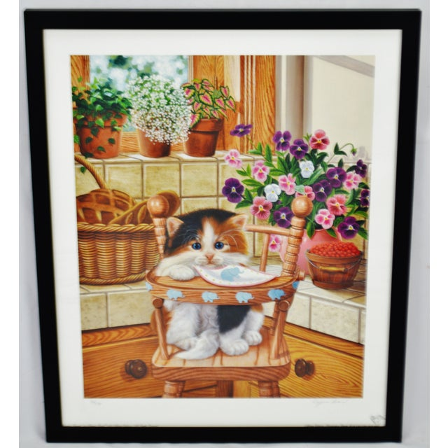 Contemporary Vintage Signed Barbara Higgins Bond Sunday Brunch Limited Edition Textured Lithograph For Sale - Image 3 of 13