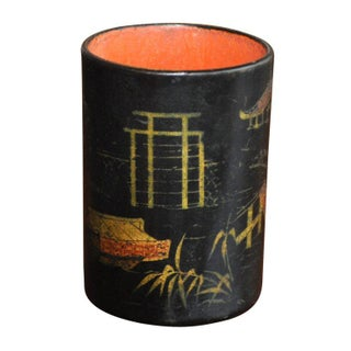 Black & Gold Chinoiserie Container Preview