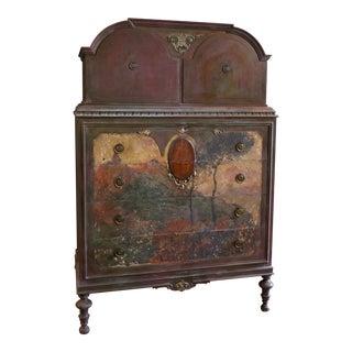 Antique 'The Church at Varengeville' Gentleman's Dresser