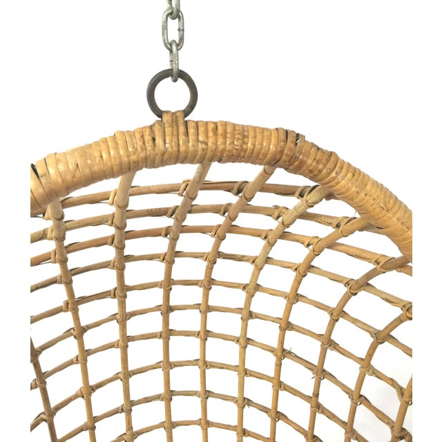 1960s 1960s Rohe Cane Hanging Chair For Sale - Image 5 of 5