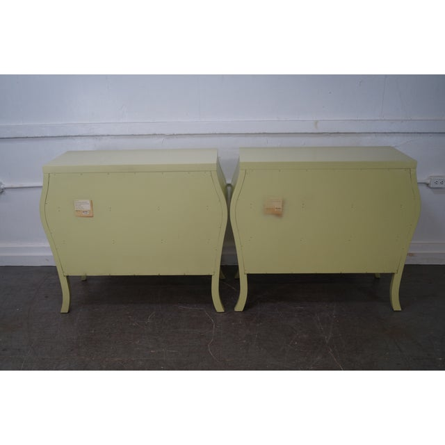 Drexel Heritage Yellow Painted Bombe Chests - A Pair - Image 4 of 10