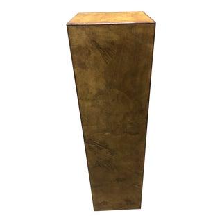 Mid-Century Italian Burlwood Pedestal For Sale