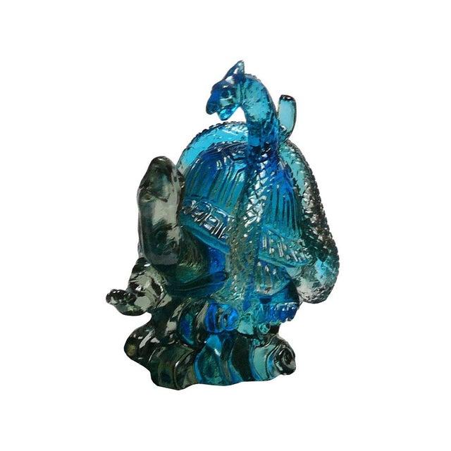 Chinese Liuli Crystal Glass Pate-de-verre Turtle Celestial Animals Figure For Sale - Image 4 of 5