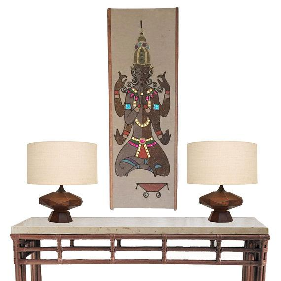 Mid Century Modern Mosaic Hindu Inspired Wall Panel Wall Art 36 ...