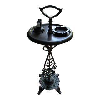 Vintage Cast Iron Smoke Stand