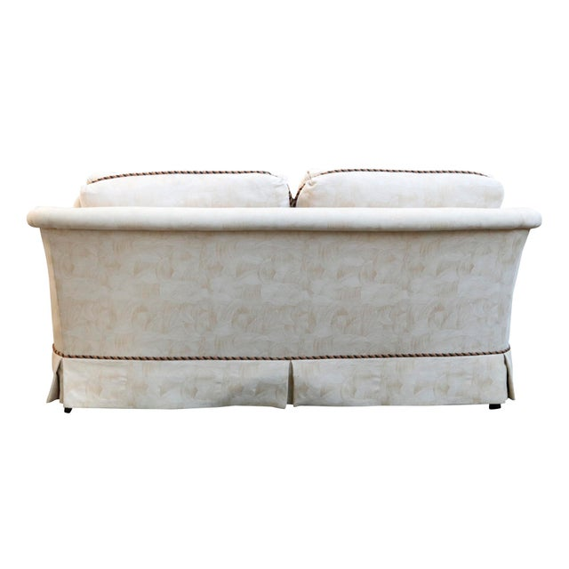 Sherrill Mid Century Style Tuxedo Sofa in Cream - Image 4 of 8