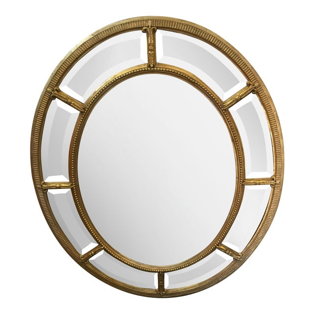 Oval Gold Mirror For Sale