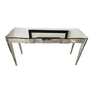 1990s Modern Swaim Furniture Mirrored Console Table For Sale