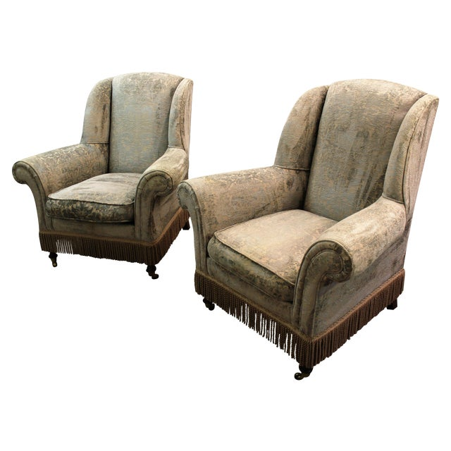 Drexel Heritage Lillian August Club Chairs - Pair For Sale