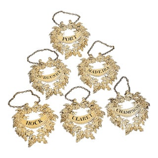 George III Silver-Gilt Wine Labels