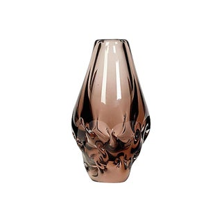 1960s Smoked Art Glass Vase For Sale