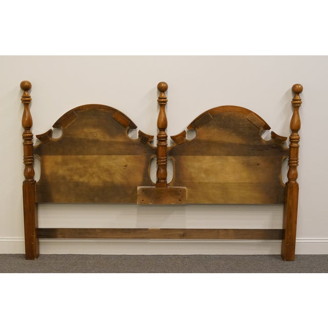 Thomasville Late 20th Century Vintage Thomasville Furniture Fisher Park Collection King Size Headboard For Sale - Image 4 of 8