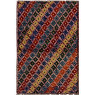 1990s Southwestern Balouchi Felicita Purple/Red Wool Rug - 3'3 X 4'11 For Sale