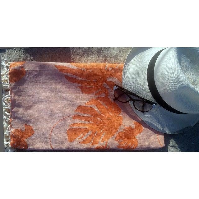 Coral & Orange Towalla Towel - Image 3 of 6