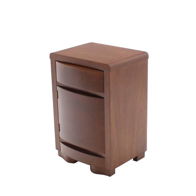 Brown Pair of Art Deco Walnut End Tables Nightstands For Sale - Image 8 of 9