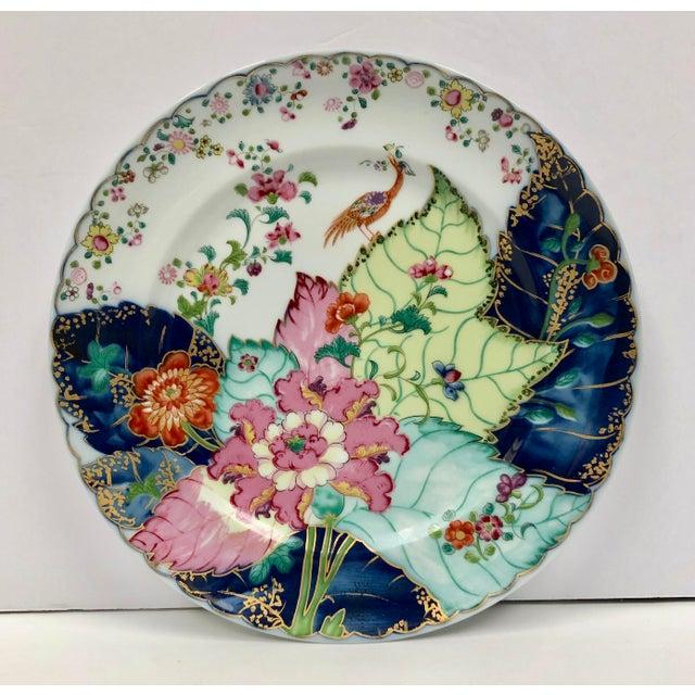 1980s Mottahedeh Tobacco Leaf Porcelain Plate For Sale - Image 11 of 11