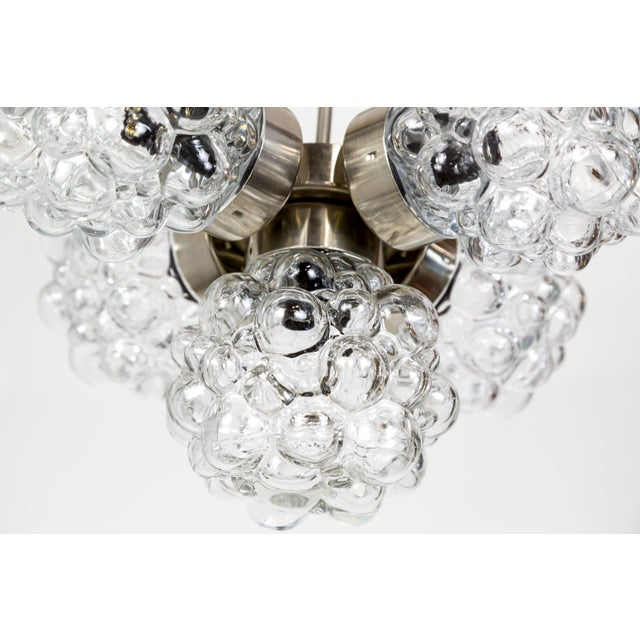 Glashütte Limburg Bubble Glass Cluster Chandelier by Helena Tynell (2 Available) For Sale - Image 4 of 9